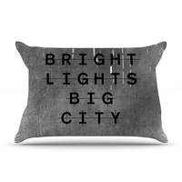 "Alison Coxon ""Bright Lights"" Dark City Pillow Case"