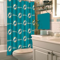Miami Dolphins NFL Shower Curtain