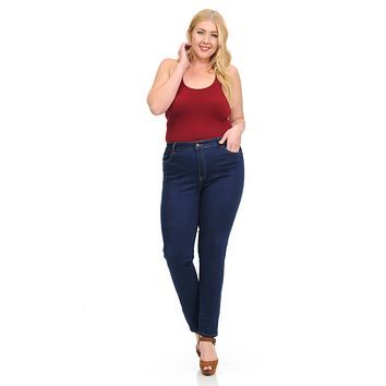 Sweet Look Women's Jeans - Missy Size - High Waist - Push Up - Skinny - Style A480