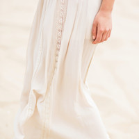 Lindy Taupe Lace Maxi Skirt