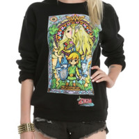 Nintendo The Legend Of Zelda Stained Glass Girls Pullover