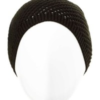 Open Waffle Knit Beanie by Charlotte Russe