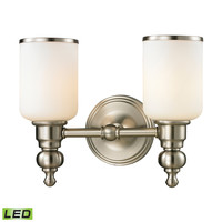 ELK Bristol Collection 2 light bath in Brushed Nickel- LED - 11581/2-LED