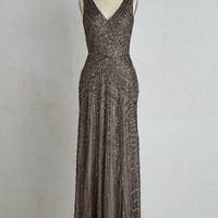 Vintage Inspired Long Sleeveless A-line Proper Glamour Dress