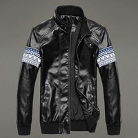 JacketLeather Jacket For Slim FitCoats Casual Outwears