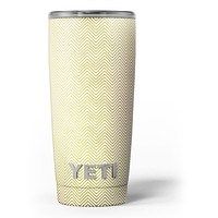 The Gold and White Micro Chevron Pattern - Skin Decal Vinyl Wrap Kit compatible with the Yeti Rambler Cooler Tumbler Cups