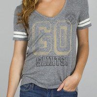 NFL New Orleans Saints Tailgate Tee - Women's Collections - NFL - All - Junk Food Clothing