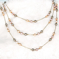 Handmade Necklace: Pearls in the Milkyway