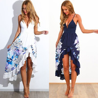 Sexy Women Summer Boho Long Maxi Evening Party Dress Beach Dresses Sundress = 4904958020