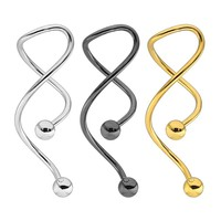 1Pc 316L Industrial Steel Titanium Creative Barbell Tongue Ring Surgical Body Piercing Women Punk Studs Ear Body Jewelry