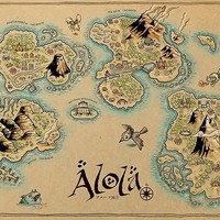 'Alola Map' Poster by MeleeNinja
