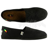 Bob Marley Rita Canvas Black Shoes - Women's @ Rastaempire.com