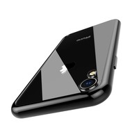 Tempered Glass Case for iPhone XR Case Black Sides