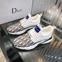 DIOR Men Fashion Boots fashionable Casual leather Breathable Sneakers Running Shoes-8