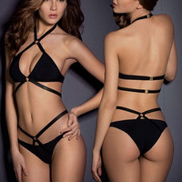 Sexy Black Bikini Set Beach Swimsuit Summer Gift 181