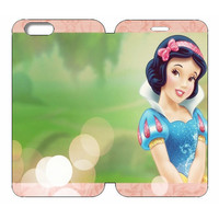 """Disney Princesses (Snow White) Wallet Case w/ Stand Flip Cover for iPhone 6/6s (4.7"""")"""