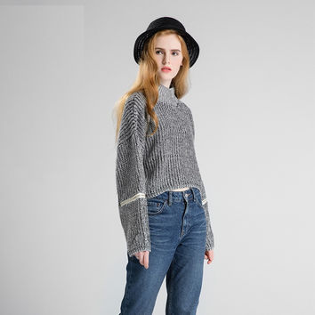 Knit Stylish Decoration Tops [9056519302]