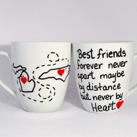 Best Friends Mug 2 sides, Family Forever mug, Sisters Forever Mug, Friends forever Mug, High Quality Mug from Brushes with a View