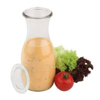 Paderno World Cuisine Glass Carafe with Cover (Set of 6)