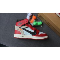 "Air Jordan 1 ""red black "" 36-47"
