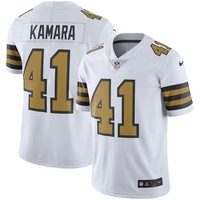 Men's New Orleans Saints Alvin Kamara Nike White Vapor Untouchable Color Rush Limited Player Jersey