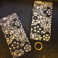 Hollow Out Floral iPhone 6 6s Plus Case Samsung Gift-94