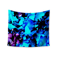 """Claire Day """"Peace Offering"""" Blue Aqua Wall Tapestry"""