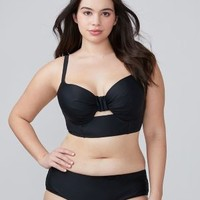 Longline Swim Bikini Top with Built-In Balconette Bra | Lane Bryant
