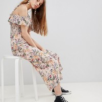 Glamorous Jumpsuit With Ruffle Layer In Floral at asos.com