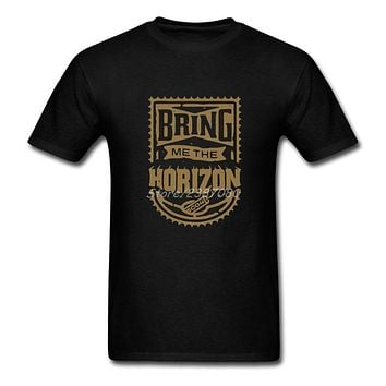 Bring Me The Horizon T Shirt Custom Short Sleeve Men's T shirts 2020 New Free Shipping XXXL O neck Cotton T Shirts|cotton t shirt|t shirtt shirt custom