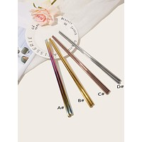 Colorful Stainless Steel Chopsticks 1pair