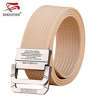 Men canvas belt high quality tactical belt casual Double Ring Buckle belts Military Equipment Strap for man