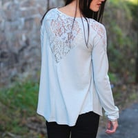Thermal Laced Back Top {Silver}