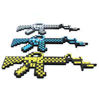 """""""New Arrivals"""" Minecraft Foam Machine Gun Blue & Grey & Gold Color 1PCS In Stock Free Shipping!!"""