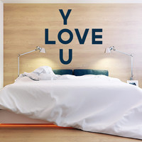 Wall Decor Vinyl Sticker Room Decal Love Heart Kiss Passion Family Bedroom Sign Quote Lettering  Word Phrase (s181)