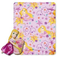 Disney, Rapunzel, Rapunzel 40-Inch-by-50-Inch Fleece Blanket with Character Pillow by The Northwest Company