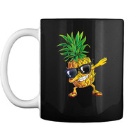 Dabbing Pineapple Sunglasses Aloha Beaches Hawaii Mug