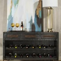 101639 Bridgewater Console Table with Removable Wine Rack - Free Shipping!
