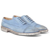 Maison Martin Margiela Washed-Leather Oxford Shoes | MR PORTER