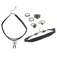 12-Piece Fashion Necklace and Ring Set - Multicolor : Target