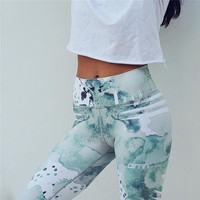 Print Sporting Leggings Activewear For Women Fitness Clothing High Waist Workout Pants Elastic Quick Dry Fitness Leggings Female