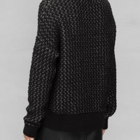 & Other Stories   Raised Knit Sweater   Black