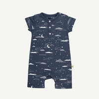 Cloudy Night Sky Romper