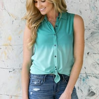Tropical Ombre Button-up