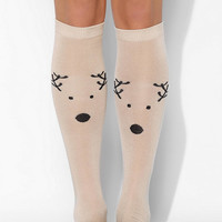 Reindeer Knee-High Sock - Urban Outfitters