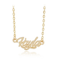 Name Kayla Pendant Golden Chain Necklace