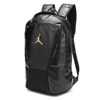 Jordan fashion hot selling men's and women's casual gold LOGO large capacity shopping backpack