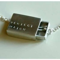A Perfect Match Matchbox Necklace Silver Edition by yellowgoat