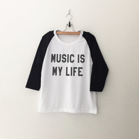 Music is my life T-Shirt funny sweatshirt womens girls teens unisex grunge tumblr instagram blogger punk dope swag hype hipster gifts merch