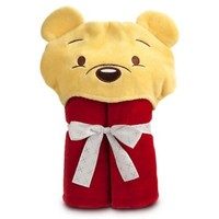 Disney Deluxe Winnie the Pooh Hooded Towel for Baby Toddlers Girls Boys